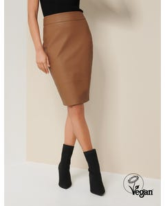 Alex Faux Leather Pencil Skirt