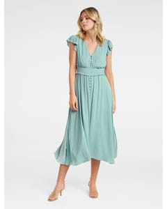 Amayah Button-Front Midi Dress