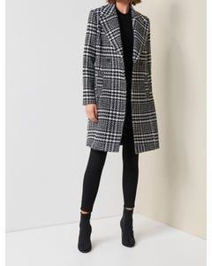 Jillian Houndstooth Coat