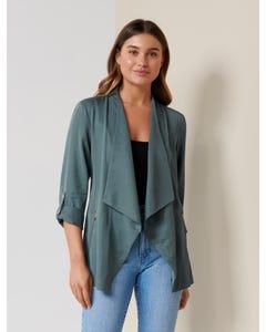 Kat Zip-Detail Waterfall Jacket