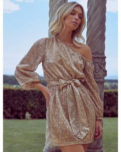 Kaylee One-Shoulder Sequin Dress