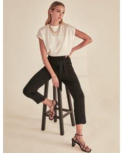Sadie Tie-Waist Slim Pants
