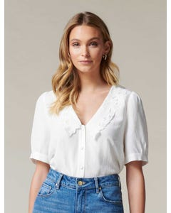 Ellie Embroidered Collar Blouse