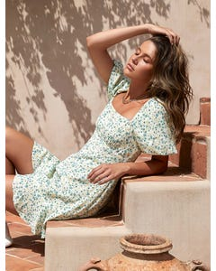 Veronica Puff-Sleeve Sun Dress