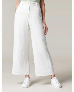 Indigo Wide-Leg Linen Pants