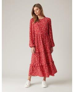 Selma Tiered Midi Dress