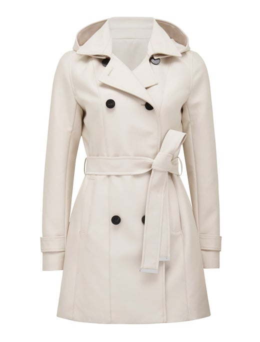 chloe hooded trench coat