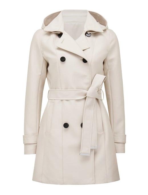 chloe hooded trench coat