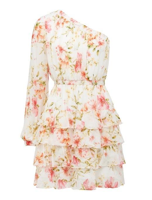Priya Ruffle One-Shoulder Mini Dress