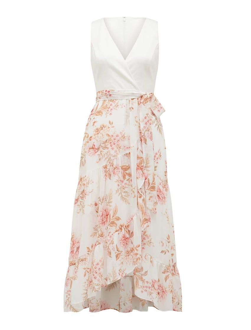 Clover Wrap 2 In 1 Midi Dress