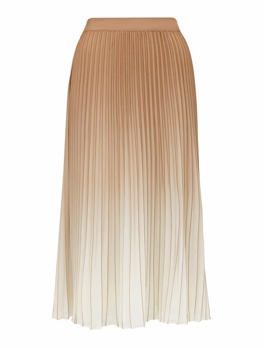 odessa ombre pleated skirt