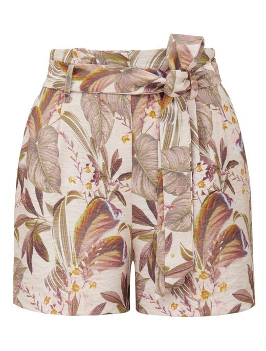 Pauline Printed Belted Shorts