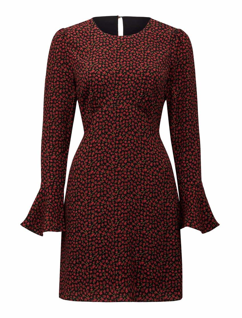 Aspen Flare-Sleeve Mini Dress