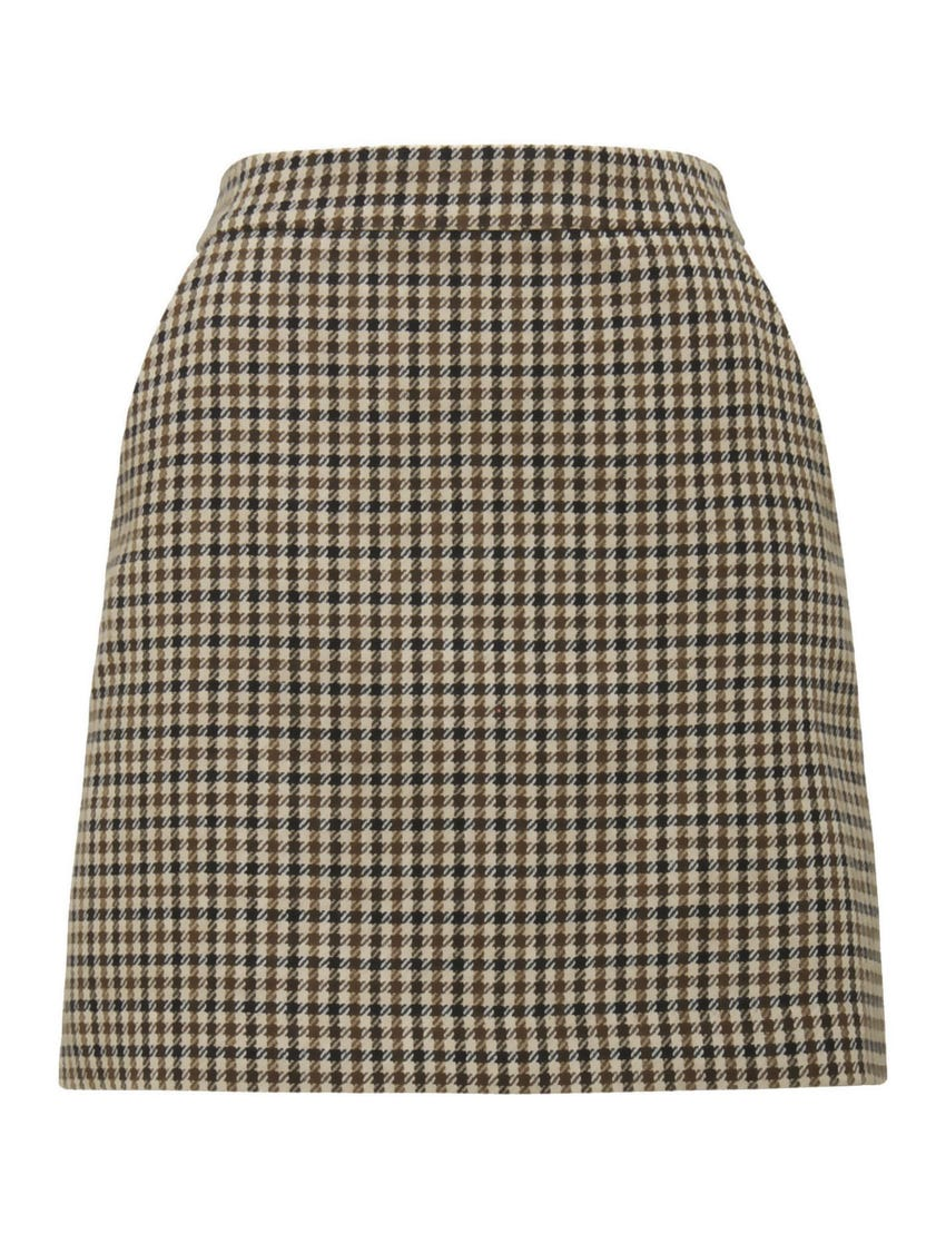 Becca A-line Check Mini Skirt