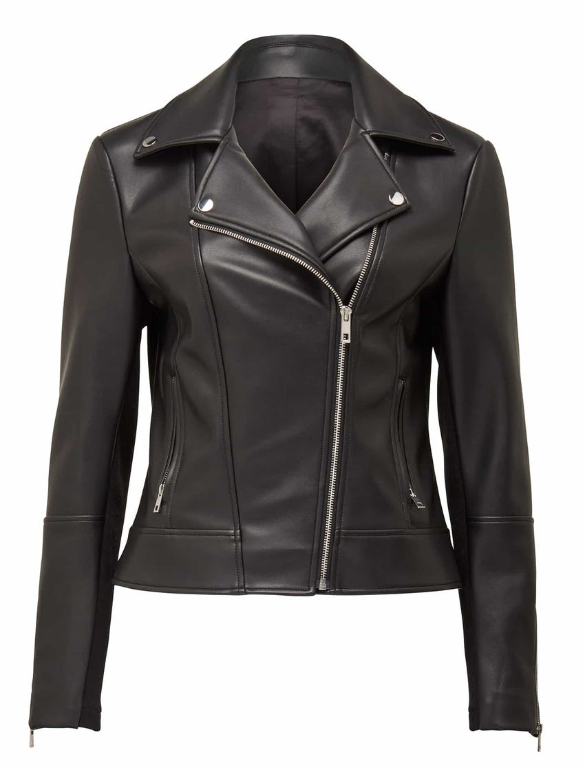 Corrie Vegan Leather Biker Jacket