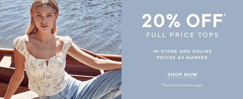 Forever New   20% Off Full Price Tops