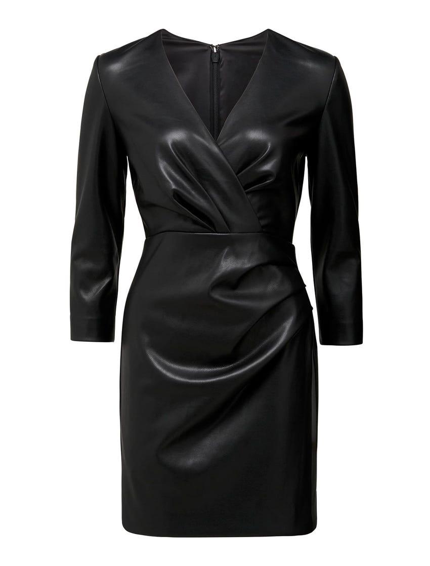 Tabitha Faux Leather Mini Dress