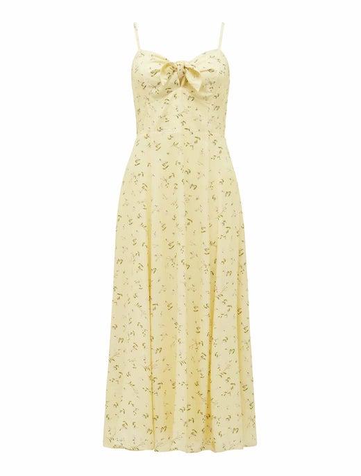 Clementine Tie-Front Midi Dress