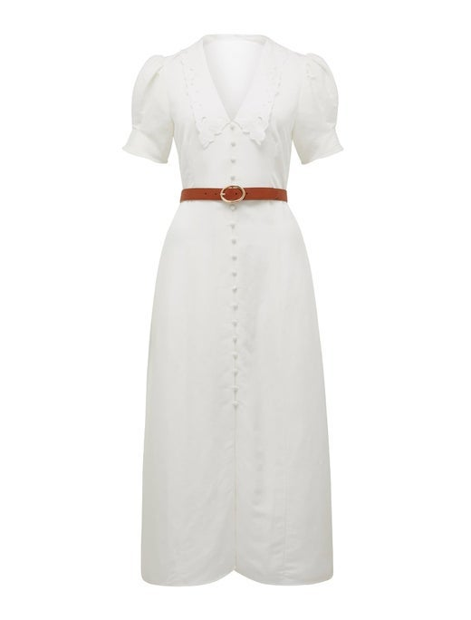 Heather Belted Midi Dress
