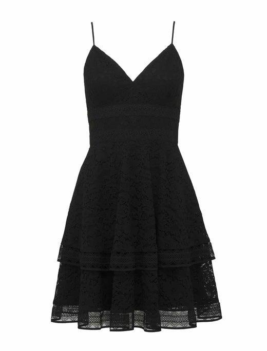 Isabel Tiered Lace Mini Dress