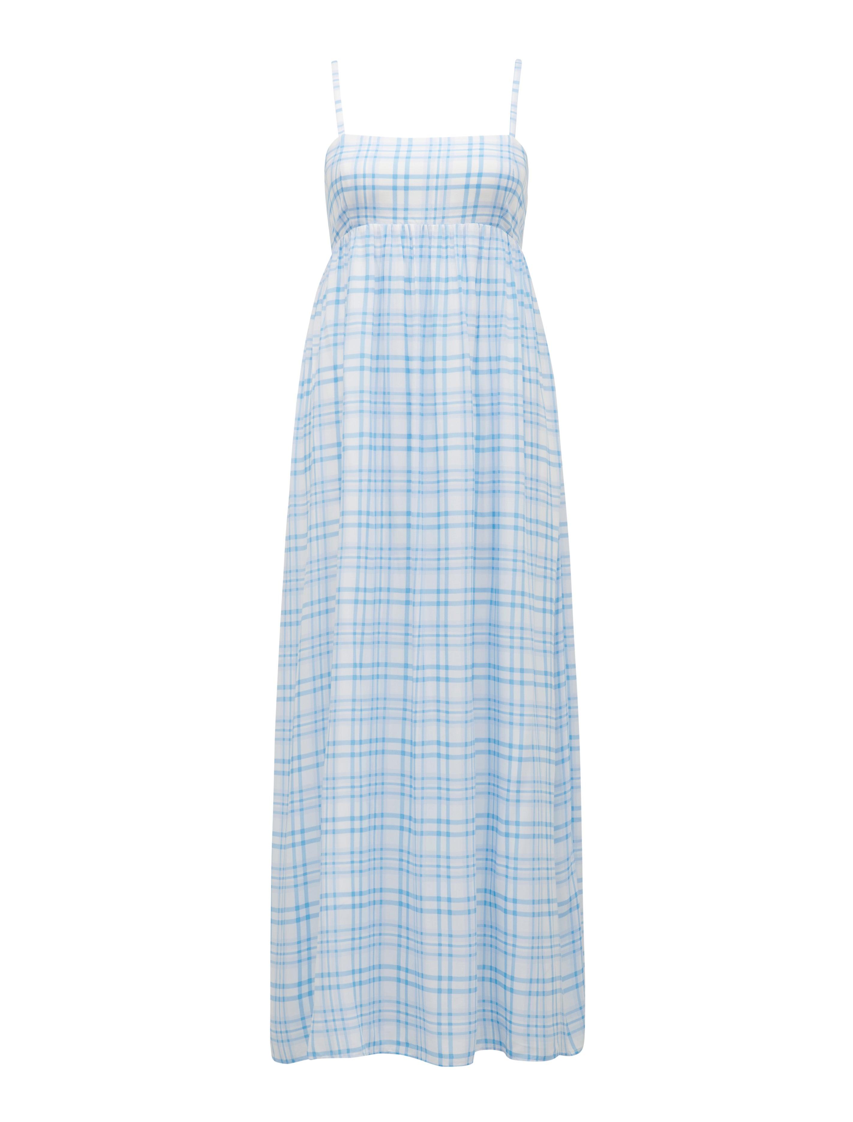 Maisie Check Maxi Dress