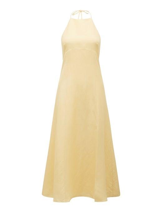 Rory Linen Halter Midi Dress