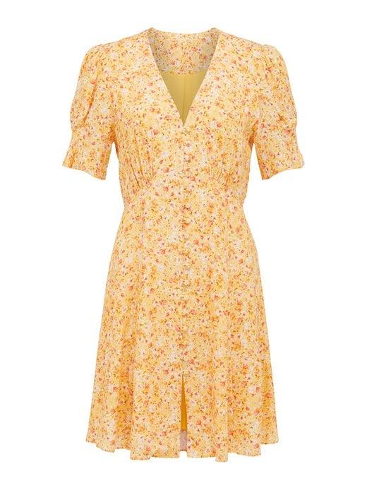 Saffron Printed Mini Sundress