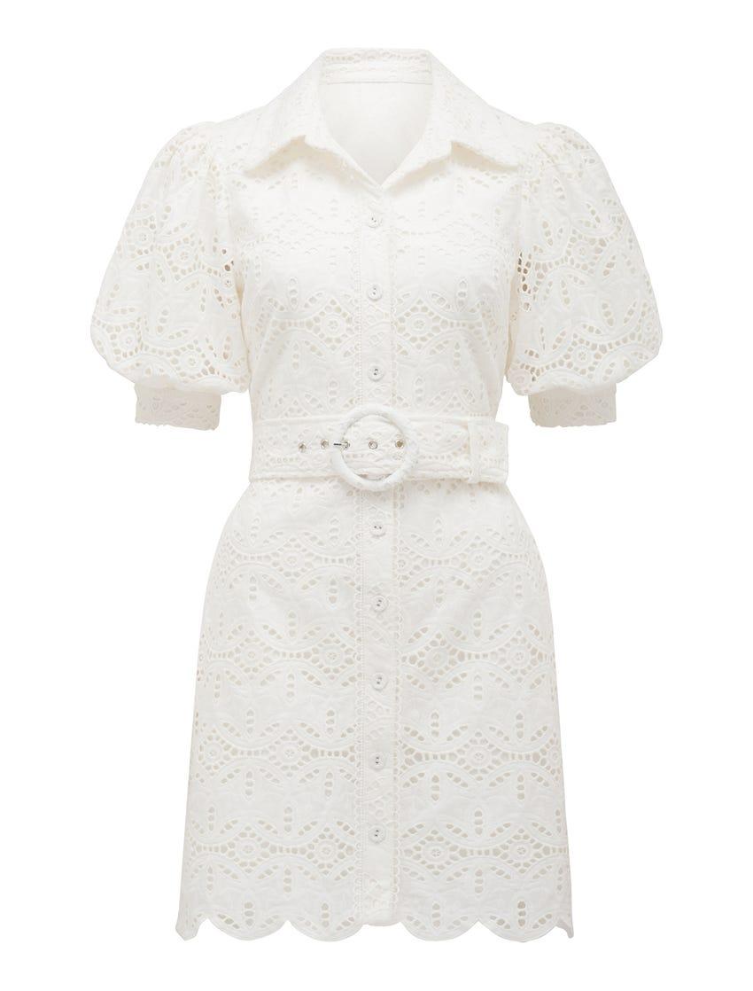 Seattle Broderie Shirt Dress